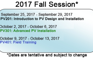 Advanced Solar Training Program