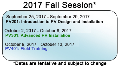 Advanced Solar Training Program
