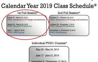 Solar Training Filling Up 2019